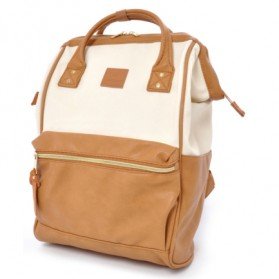 Tas Ransel Anello Handle Backpack Campus Rucksack L Size - Beige