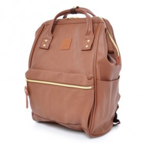 Tas Ransel Anello Handle Backpack Campus Rucksack L Size - Brown