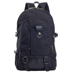 Outlife Tas Ransel Canvas - HM104 - Black