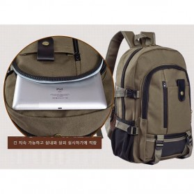 Outlife Tas Ransel Canvas - HM104 - Black - 4