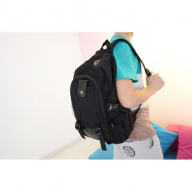 Outlife Tas Ransel Canvas - HM104 - Black - 8