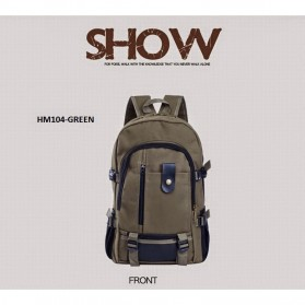 Outlife Tas Ransel Canvas - HM104 - Black - 9