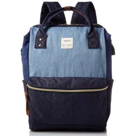 378af58259 ... Tas Ransel Anello Denim Cloth Backpack Campus Rucksack - Blue/Gray - 1  ...