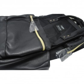 Anello Tas Ransel Kulit + Canvas Size S - Black - 3