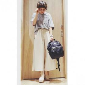 Anello Tas Ransel Kulit + Canvas Size S - Black - 11