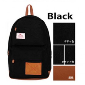 Anello Tas Ransel Propeller Canvas L - Black