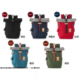Heart Made Factory Tas Ransel Canvas Size L - Red - 3