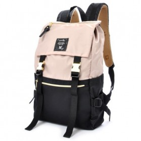 Anello Tas Ransel Buckle Nylon - Black White