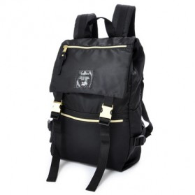 Tas Ransel Laptop / Backpack Notebook - Anello Tas Ransel Buckle Nylon - Black