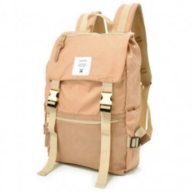 Tas Ransel Laptop / Backpack Notebook - Anello Tas Ransel Buckle Nylon - Beige