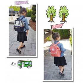 Anello Tas Ransel Oxford 600D for Kids - Black/Gray - 4