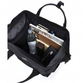 Anello Limited Edition All Black Tas Ransel Canvas Size XL - Black - 4