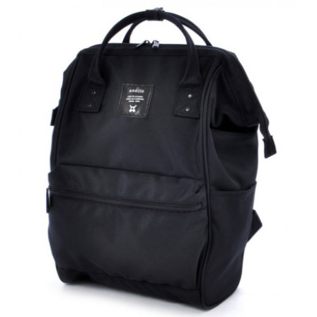 ... Anello Limited Edition All Black Tas Ransel Canvas Size XL - Black - 2 ...