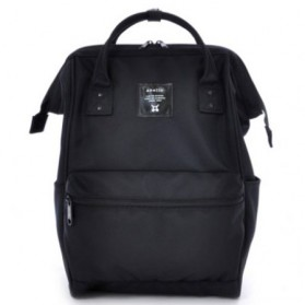 Tas Ransel Laptop / Backpack Notebook - Anello Limited Edition All Black Tas Ransel Canvas Size L - Black