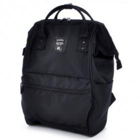 Anello Limited Edition All Black Tas Ransel Canvas Size L - Black - 2