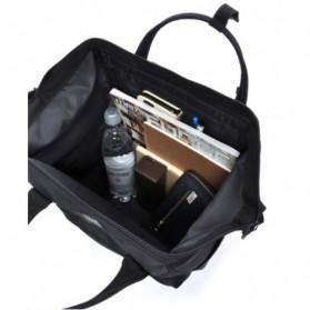 Anello Limited Edition All Black Tas Ransel Canvas Size L - Black - 4