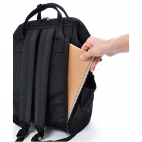 Anello Limited Edition All Black Tas Ransel Canvas Size L - Black - 5