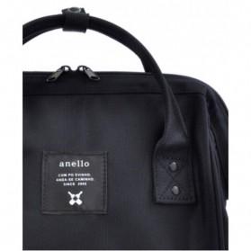 Anello Limited Edition All Black Tas Ransel Canvas Size L - Black - 6