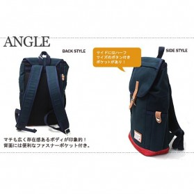 Anello Wonderland Tas Ransel Canvas - Blue - 7