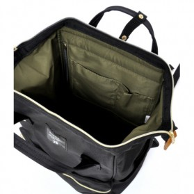 Anello Tas Ransel Oxford 600D Zipper Back Size L - Gray/Yellow - 4