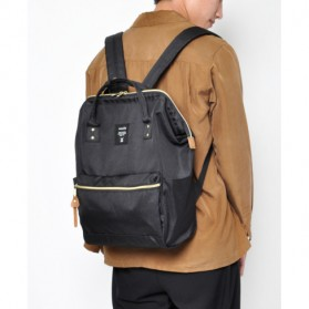Anello Tas Ransel Oxford 600D Zipper Back Size L - Gray/Yellow - 7