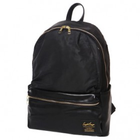 Tas Ransel Legato Largo Backpack PU + Nylon - Black