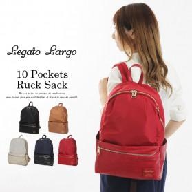 Tas Ransel Legato Largo Backpack PU + Nylon - Cream - 2
