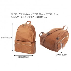 Tas Ransel Legato Largo Backpack PU + Nylon - Cream - 8
