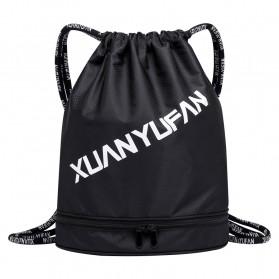 XUANYUFAN Tas Ransel Serut Sport Drawstring Bag - GSFL-A - Black