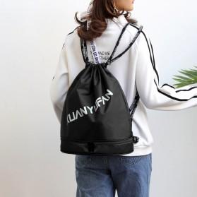 XUANYUFAN Tas Ransel Serut Sport Drawstring Bag - GSFL-A - Black - 7