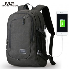 Mark Ryden Tas Ransel Laptop dengan USB Charger Port - MR5790D - Black