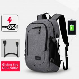 Mark Ryden Tas Ransel Laptop dengan USB Charger Port - MR5790D - Black - 2
