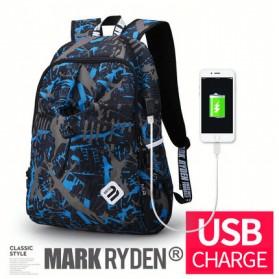 Mark Ryden Tas Ransel Laptop dengan USB Charger Port - MR6008 - Dark Blue