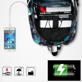 Mark Ryden Tas Ransel Laptop dengan USB Charger Port - MR6008 - Dark Blue - 2