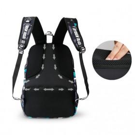 Mark Ryden Tas Ransel Laptop dengan USB Charger Port - MR6008 - Dark Blue - 3