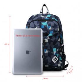 Mark Ryden Tas Ransel Laptop dengan USB Charger Port - MR6008 - Dark Blue - 7