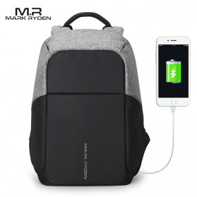 Mark Ryden Tas Ransel Anti Maling dengan USB Charger Port - MR5815ZS - Black