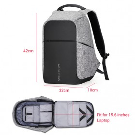 Mark Ryden Tas Ransel Anti Maling dengan USB Charger Port - MR5815ZS - Black - 3