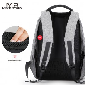 Mark Ryden Tas Ransel Anti Maling dengan USB Charger Port - MR5815ZS - Black - 4