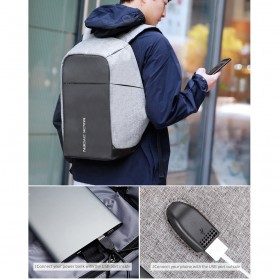 Mark Ryden Tas Ransel Anti Maling dengan USB Charger Port - MR5815ZS - Black - 7