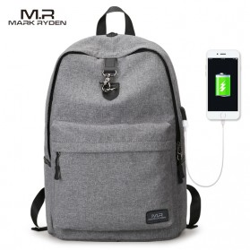 Mark Ryden Tas Ransel Laptop dengan USB Charger Port - MR5968 - Gray