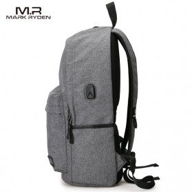 Mark Ryden Tas Ransel Laptop dengan USB Charger Port - MR5968 - Gray - 2