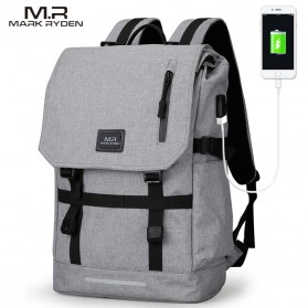 Mark Ryden Tas Ransel Laptop dengan USB Charger Port - MR5748 - Gray