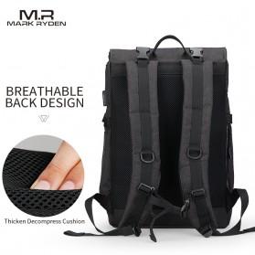 Mark Ryden Tas Ransel Laptop dengan USB Charger Port - MR5748 - Gray - 4