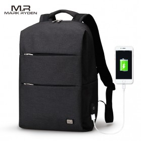 Mark Ryden Tas Ransel Laptop dengan USB Charger Port - MR5911 - Black