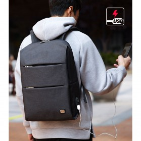 Mark Ryden Tas Ransel Laptop dengan USB Charger Port - MR5911 - Black - 6