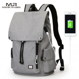 Mark Ryden Tas Ransel Laptop dengan USB Charger Port - MR5923 - Gray