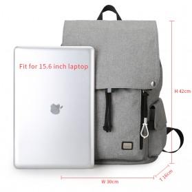 Mark Ryden Tas Ransel Laptop dengan USB Charger Port - MR5923 - Gray - 2