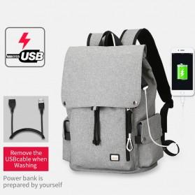 Mark Ryden Tas Ransel Laptop dengan USB Charger Port - MR5923 - Gray - 4