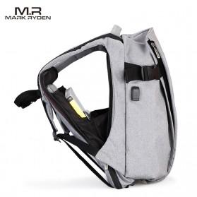 Mark Ryden Tas Ransel Laptop dengan USB Charger Port - MR5761A - Gray - 3